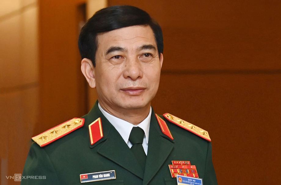 Thượng tướng Phan Văn Giang, Tổng tham mưu trưởng, Thứ trưởng Quốc phòng được đề cử để Quốc hội phê chuẩn bổ nhiệm chức vụ Bộ trưởng Quốc phòng. Ảnh: Giang Huy