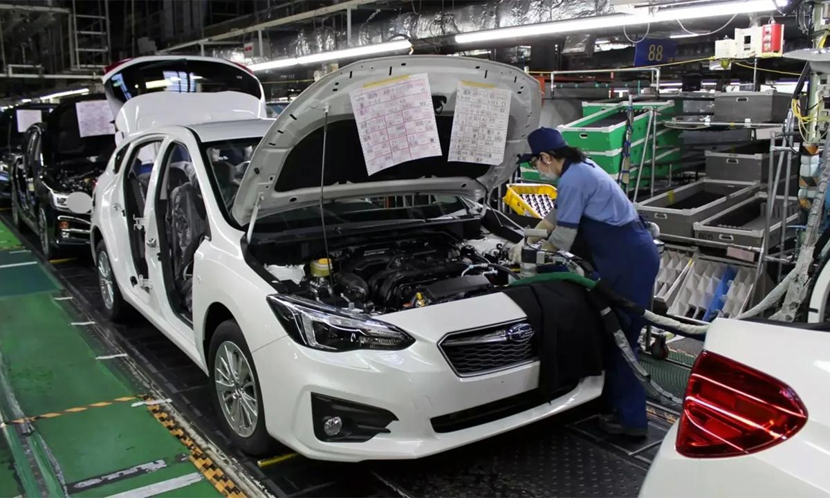 Nhà máy Yajima ở Nhật Bản tạm dừng sản xuất từ ngày 10-27/4 do thiếc chip. Ảnh: Subaru