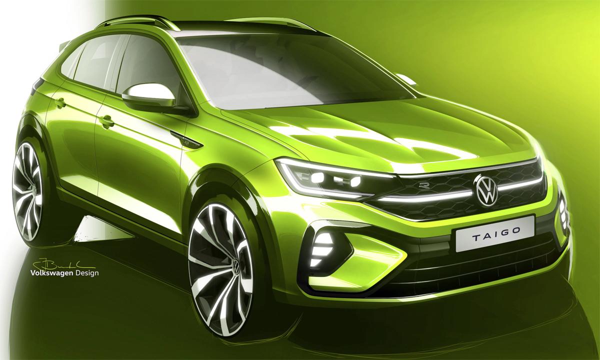 Taigo phiên bản cao cấp, với đèn pha toàn LED và vành hợp kim 17 inch. Ảnh: Volkswagen