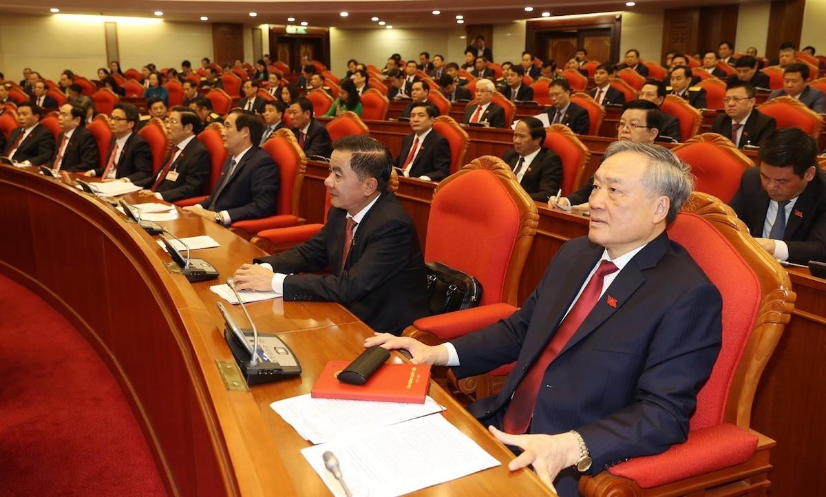Đại biểu tham dự Hội nghị lần thứ nhất, Trung ương khóa XIII. Ảnh: TTXVN