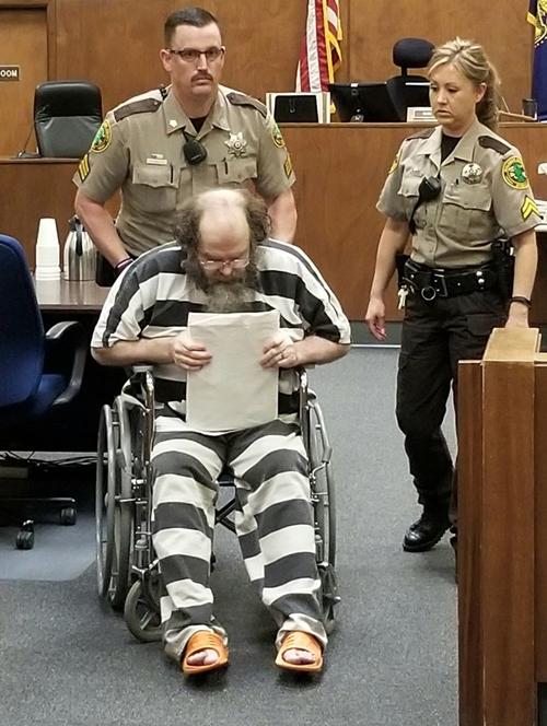 Anthony Montwheeler tại một phiên tòa. Ảnh: Malheur Enterprise.