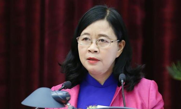 Tân Trưởng Ban Dân vận Trung ương Bùi Thị Minh Hoài. Ảnh: TTX