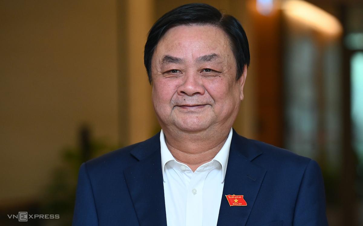 Tân Bộ trưởng Nông nghiệp Phát triển Nông thôn Lê Minh Hoan. Ảnh: Giang Huy