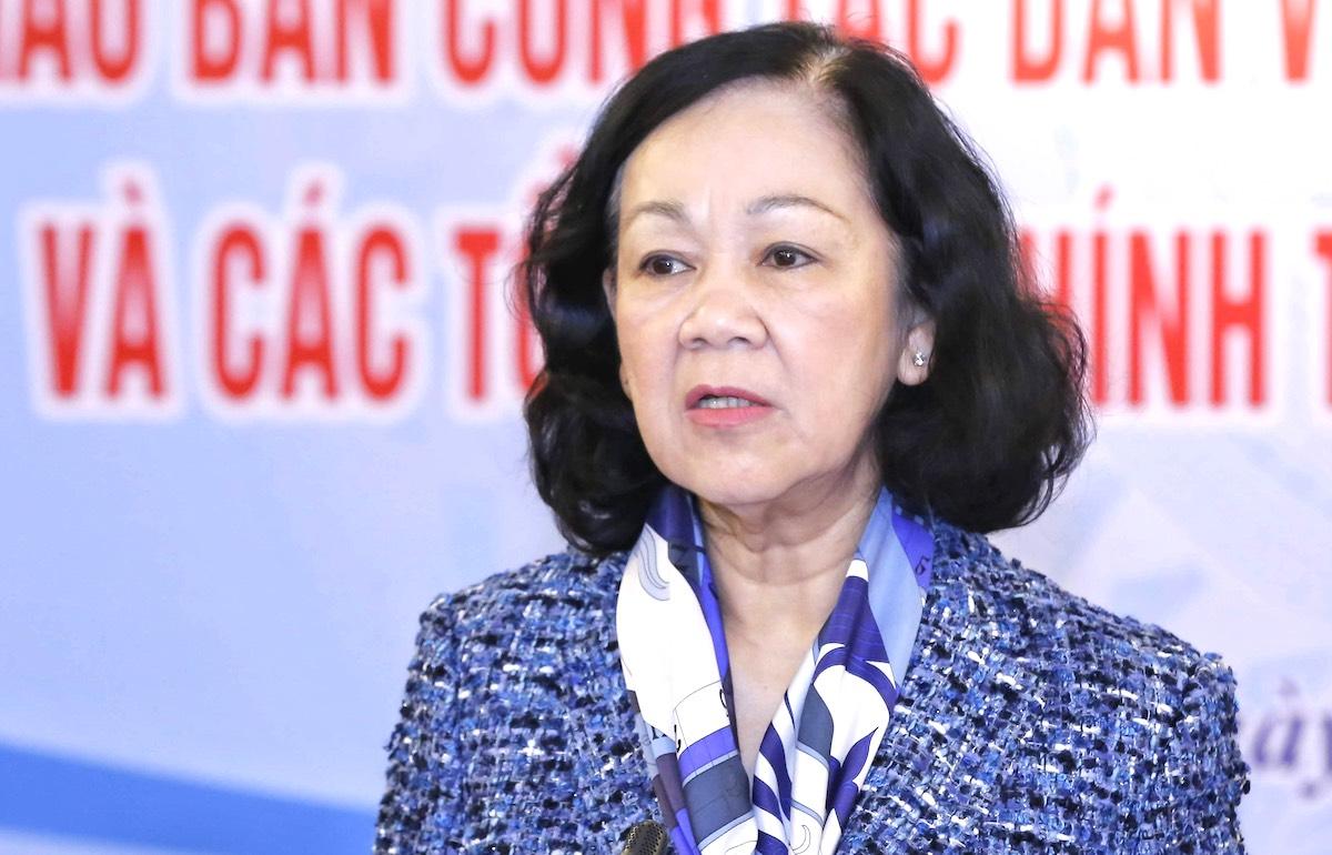 Bà Trương Thị Mai, tân Trưởng Ban Tổ chức Trung ương. Ảnh: Hoàng Phong