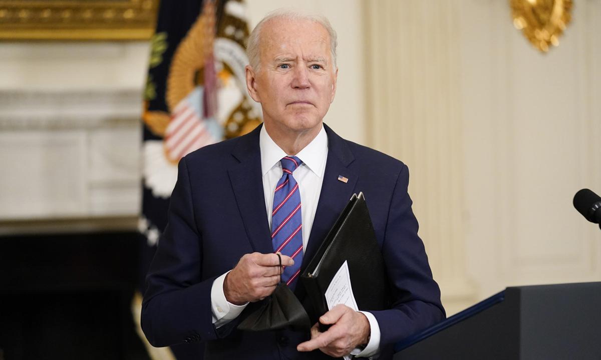 Tổng thống Joe Biden tại Nhà Trắng hôm 2/4. Ảnh: AP.
