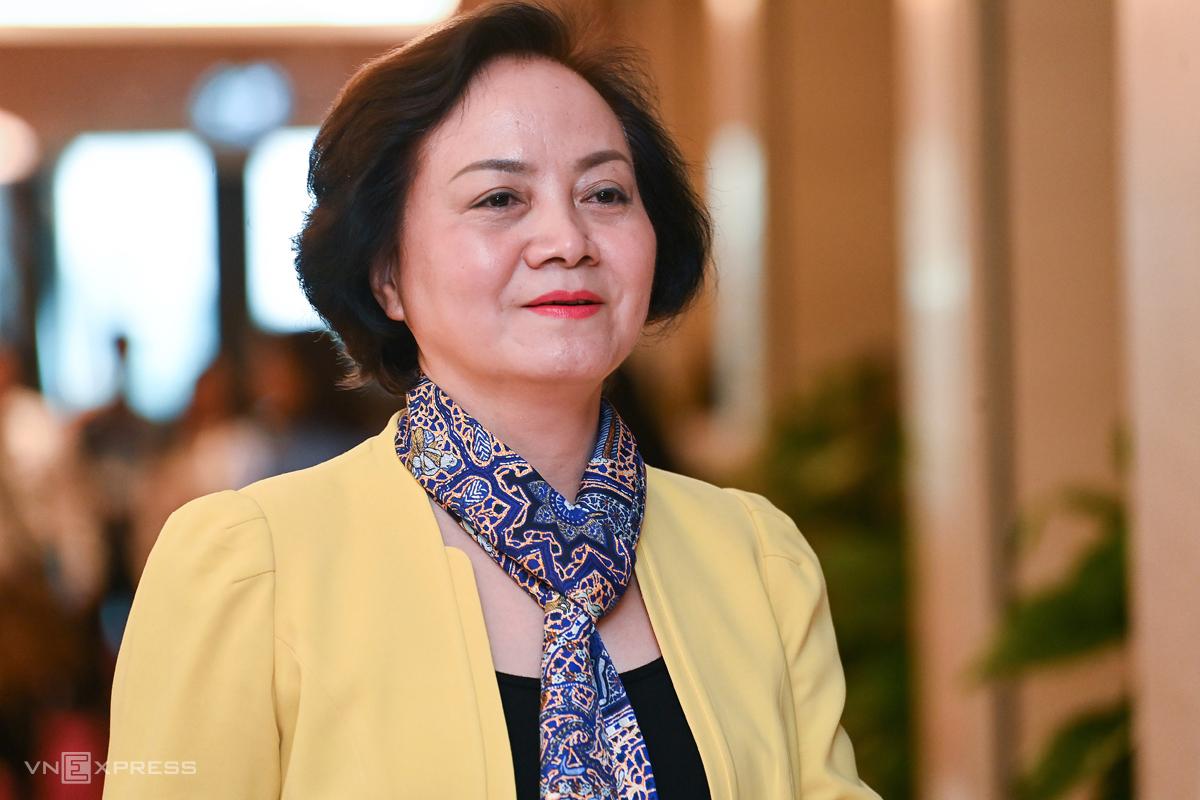 Tân Bộ trưởng Nội vụ Phạm Thị Thanh Trà. Ảnh: Giang Huy