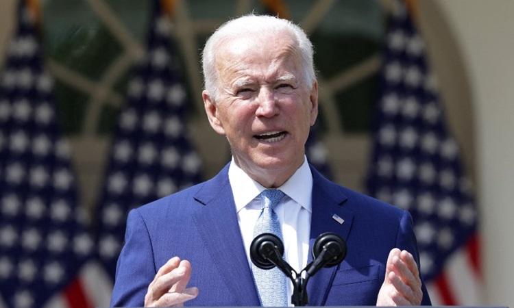 Tổng thống Mỹ Joe Biden công bố các biện pháp kiểm soát súng đạn tại sự kiện ở Nhà Trắng hôm 8/4. Ảnh: AFP.