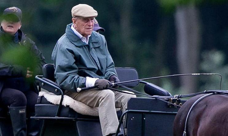 Hoàng thân Philip lái xe ngựa tại lâu đài Windsor hồi tháng 6/2018. Ảnh: Express.