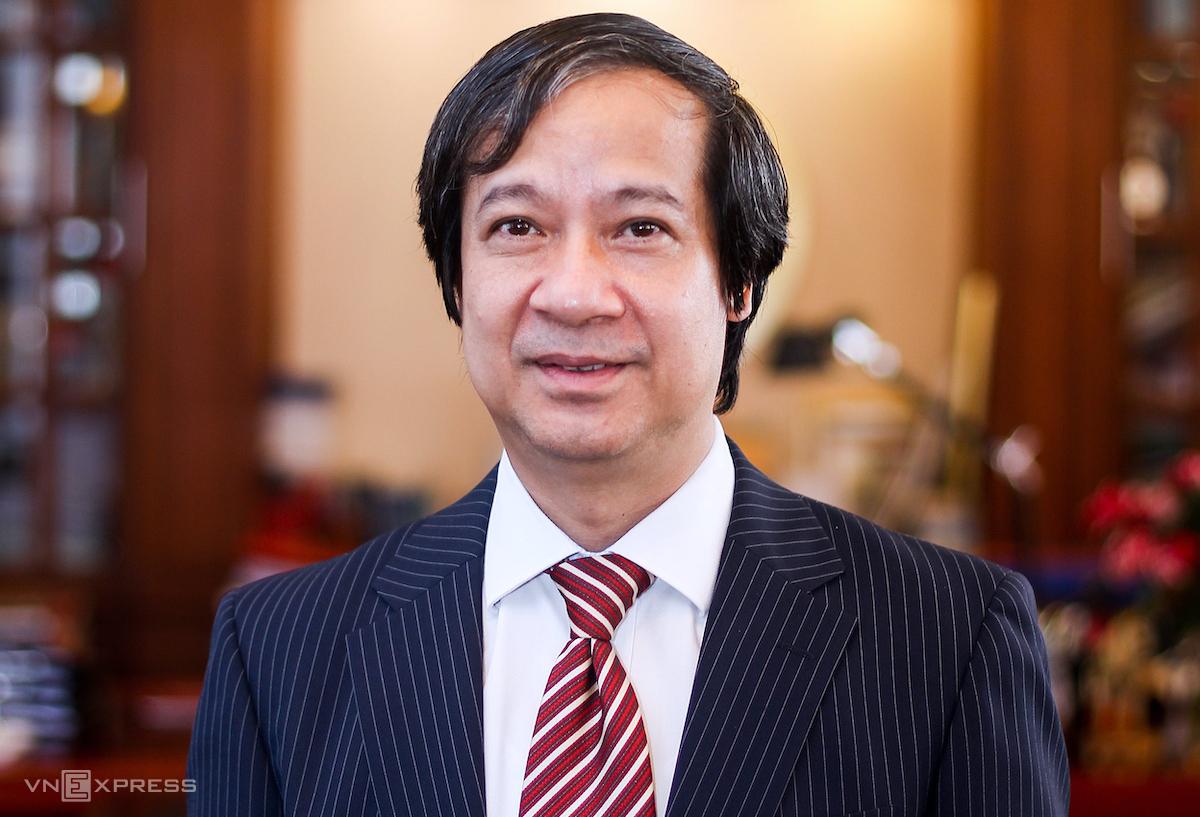 Tân Bộ trưởng Giáo dục Đào tạo Nguyễn Kim Sơn. Ảnh: Giang Huy.
