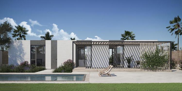 Mỗi căn nhà in 3D đều là công trình cân bằng năng lượng. Ảnh: Palari Group.