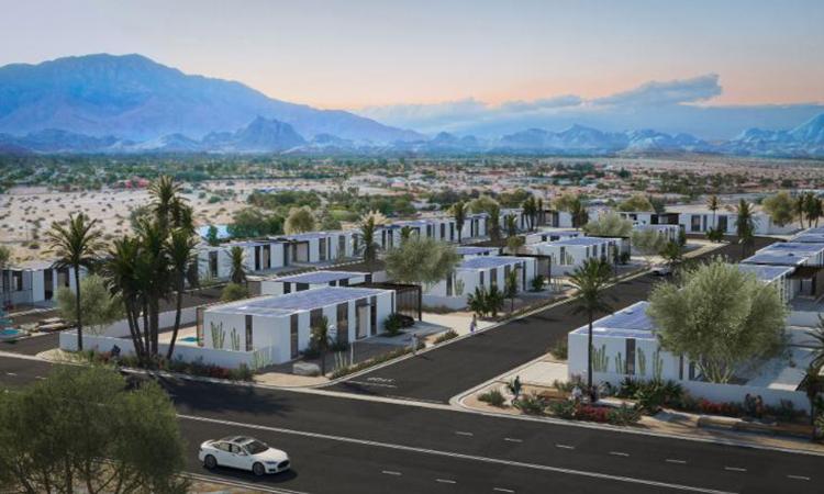 Mô phỏng khu phố in 3D ở thung lũng Coachella khi hoàn thiện. Ảnh: Palari Group.