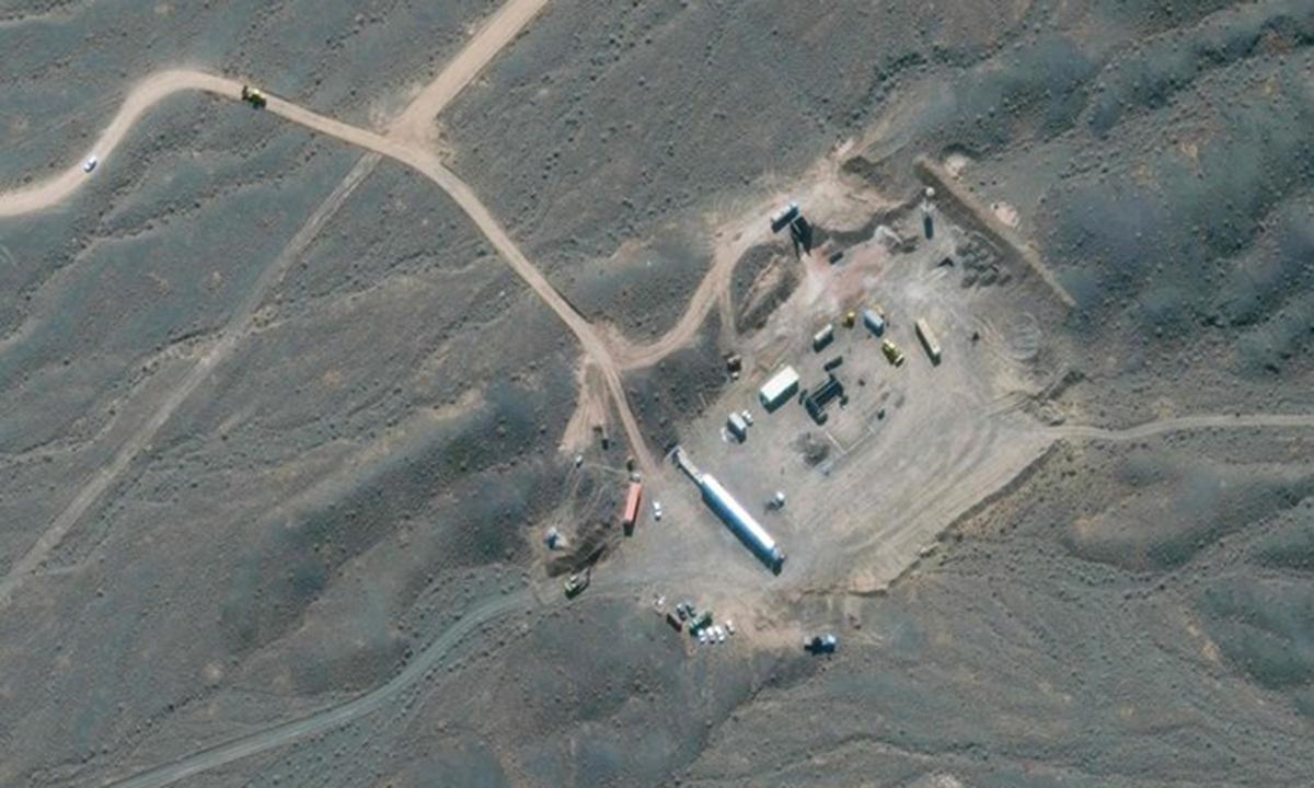 Ảnh chụp vệ tinh cơ sở hạt nhân Natanz, phía nam Tehran hồi tháng 1/2020. Ảnh: AFP.