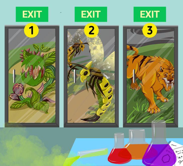 Bạn chọn cửa nào để thoát ra ngoài?