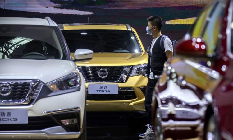 Tháng 3, tháng thứ 12 liên tiếp ghi nhận doanh số ôtô Trung Quốc tăng trưởng. Ảnh: Reuters