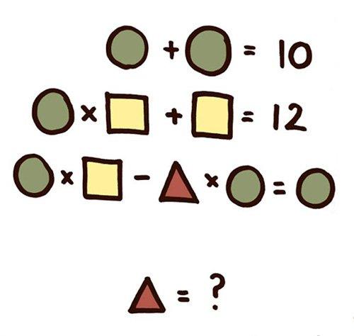 Giá trị hình tam giác bằng mấy?