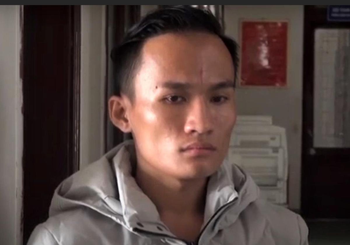 Phạm Ngọc Tiên tại cơ quan điều tra. Ảnh: Phạm Linh.
