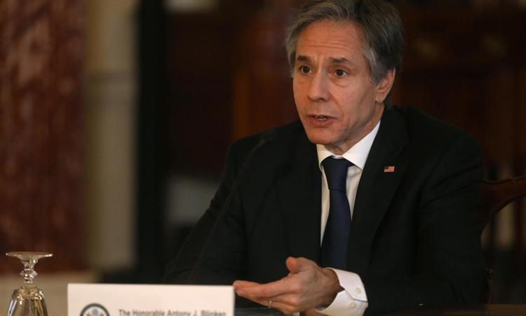Ngoại trưởng Mỹ Anthony Blinken tại trụ sở Bộ Ngoại giao ở thủ đô Washington hôm 29/3. Ảnh: Reuters.