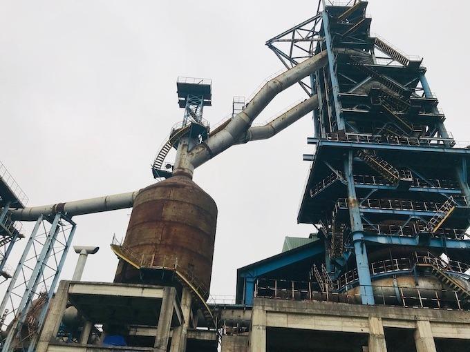 Hiện trạng nhà máy Gang thép Thái Nguyên giai đoạn 2 sau 14 năm thi công. Ảnh: Hoài Thu