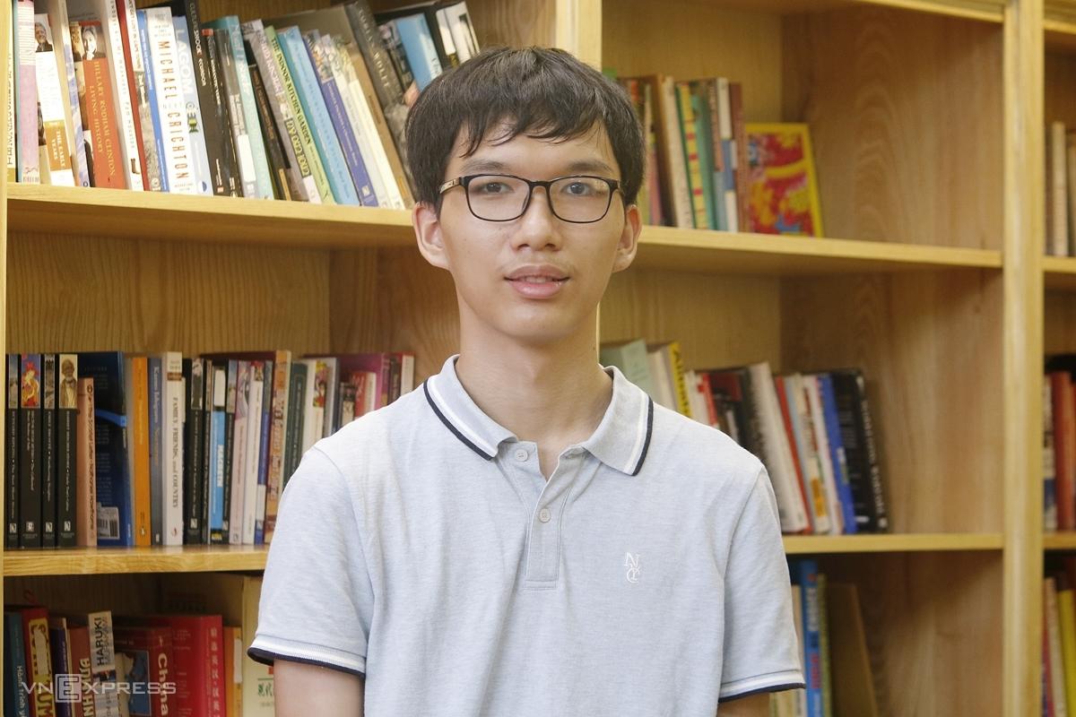 Nguyễn Mạnh Quân, học sinh trường THPT chuyên Hà Nội-Amsterdam. Ảnh: Thanh Hằng