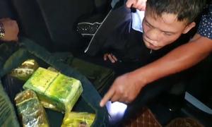 Lô ma túy tiền tỷ trên ôtô 7 chỗ bị bắt giữ