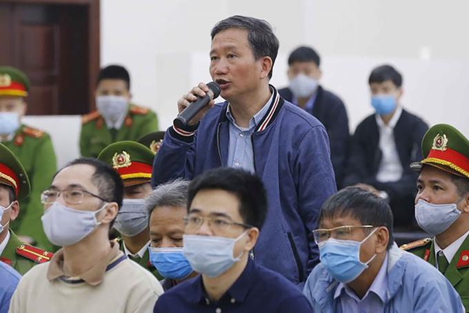 Trịnh Xuân Thanh tại toà sơ thẩm. Ảnh: TTXVN.