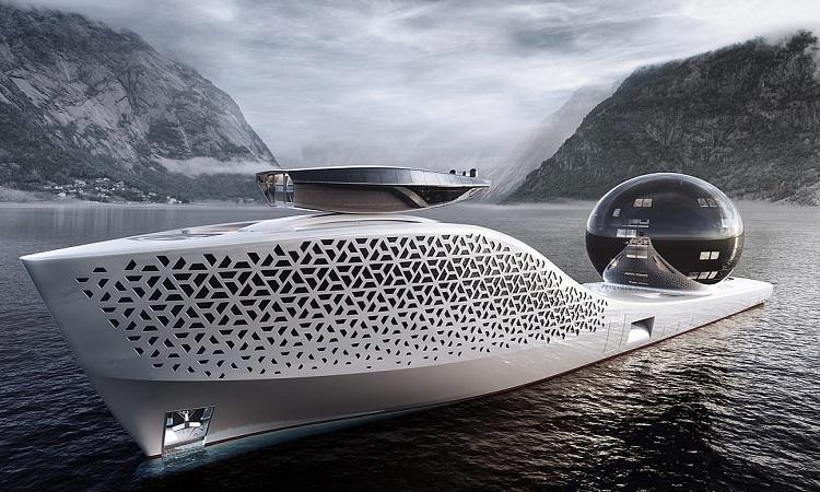 Thiết kế của tàu Earth 300. Ảnh: Iddes Yacht.