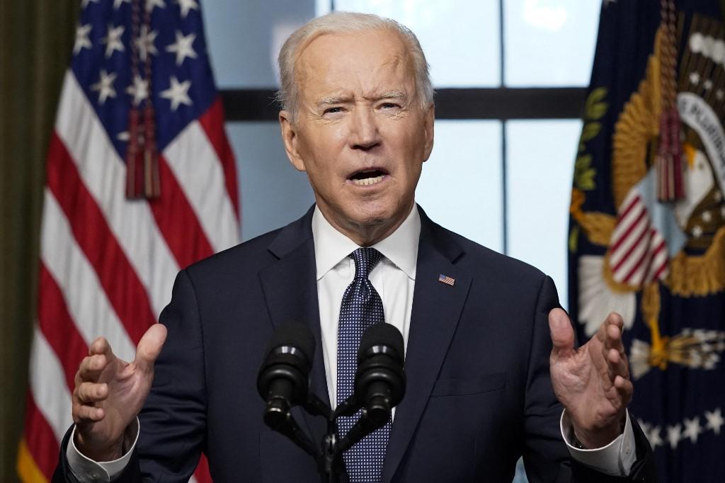 Tổng thống Mỹ Joe Biden thông báo rút quân khỏi Afghanistan tại Nhà Trắng hôm 14/4. Ảnh: AFP