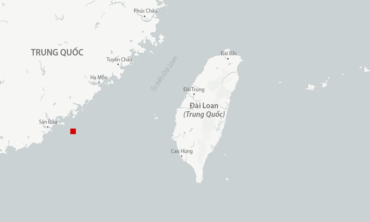 Vị trí quân đội Trung Quốc tổ chức diễn tập (màu đỏ). Đồ họa: CSIS.
