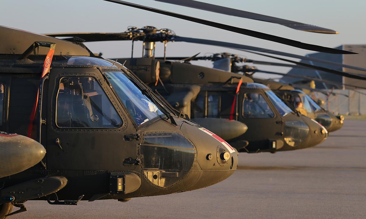 Trực thăng UH-60 của Mỹ tại căn cứ Erbil ở Iraq, ngày 8/2. Ảnh: US Army.
