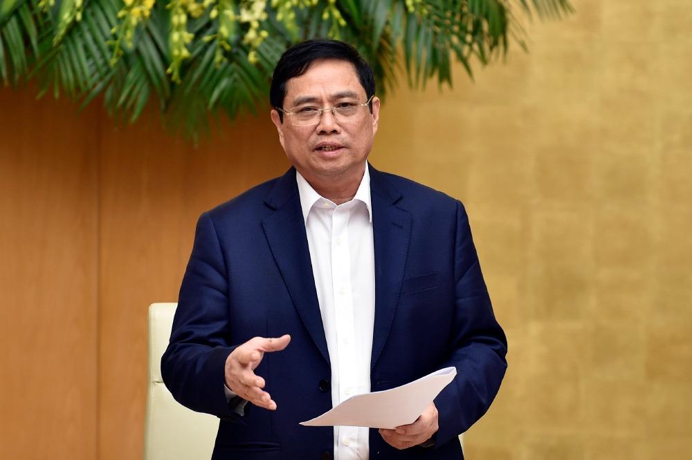 Thủ tướng Phạm Minh Chính chủ trì phiên họp Chính phủ ngày 15/4. Ảnh: Nhật Bắc