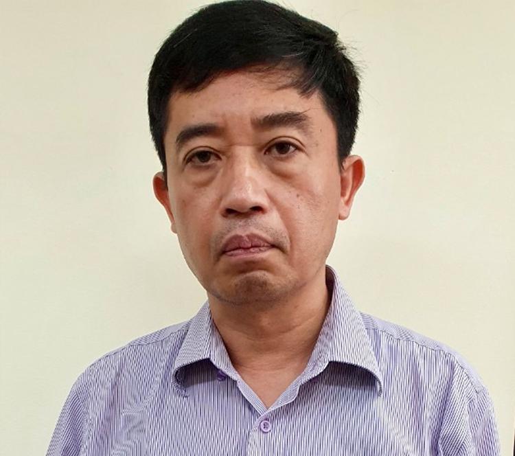 Ông Phạm Vũ Hải tại cơ quan điều tra. Ảnh: Cơ quan điều tra cung cấp
