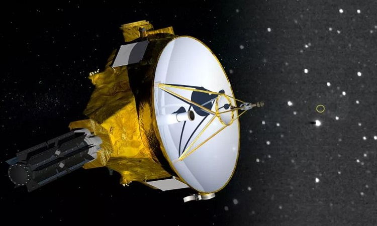Mô phỏng tàu New Horizons bay trong vũ trụ. Ảnh: NASA.