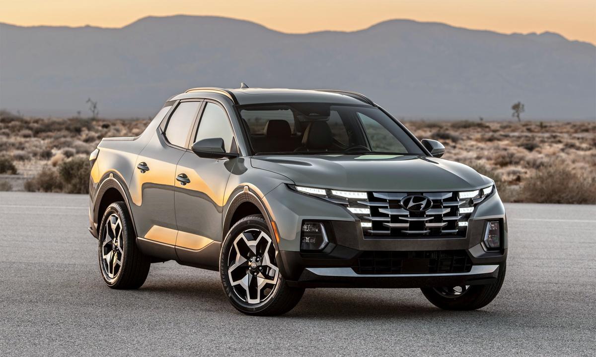 Santa Cruz - xe bán tải với thiết kế ngoại hình giống Tucson. Ảnh: Hyundai