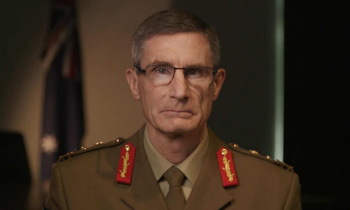 Tướng Campbell trong hội thảo trực tuyến hôm 15/4. Ảnh: ABC News.