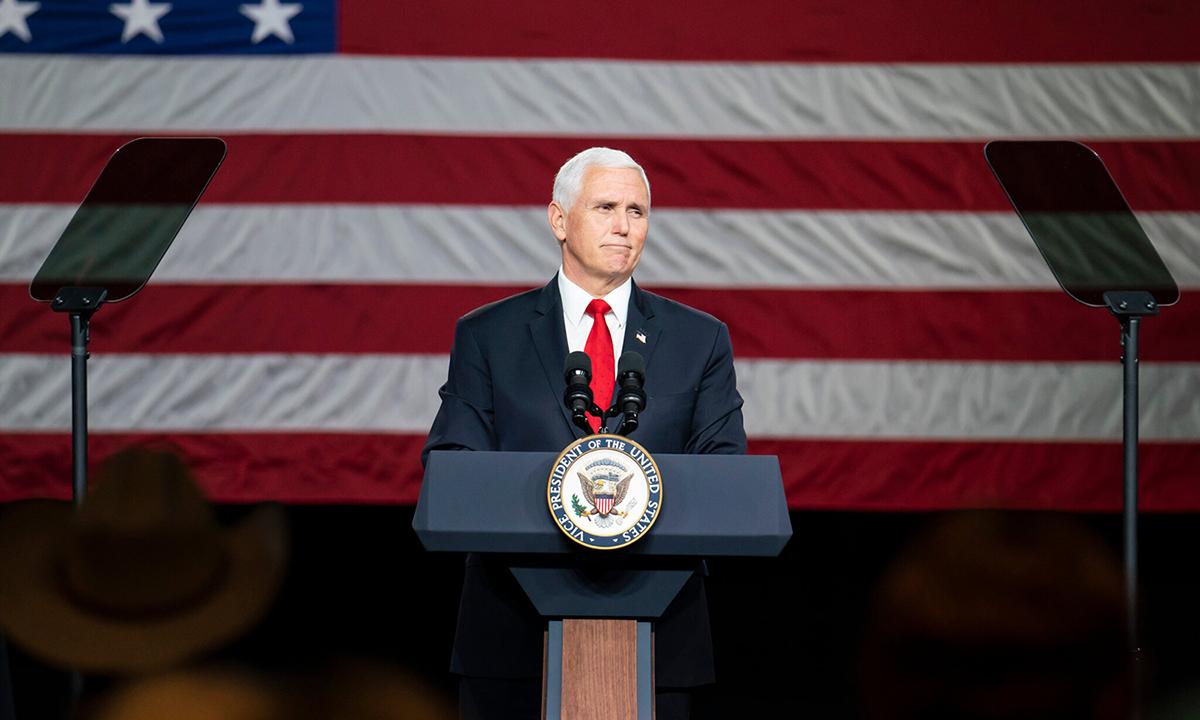 Cựu phó tổng thống Mike Pence tại sự kiện ở thành phố Milner, bang Georgia hồi tháng 1. Ảnh: NYTimes.