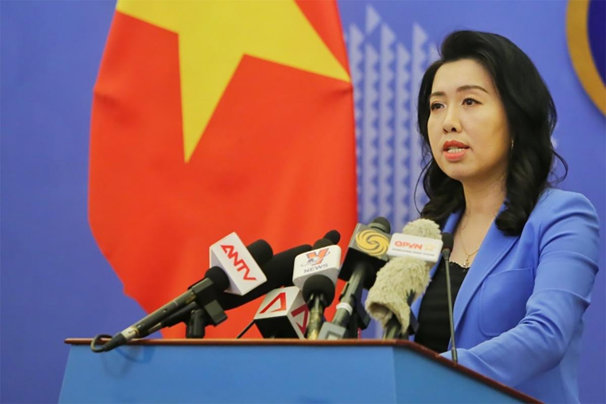 Người phát ngôn Bộ Ngoại giao Lê Thị Thu Hằng. Ảnh: Báo Chính phủ.