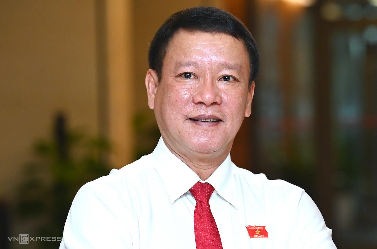 Đại biểu Quốc hội Thái Trường Giang (Phó Giám đốc Sở khoa học và công nghệ tỉnh Cà Mau). Ảnh: Giang Huy