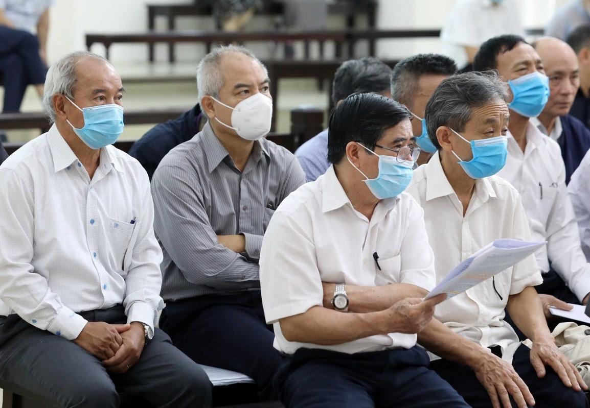 19 bị cáo đều là cựu lãnh đạo, cán bộ chủ chốt tại Tổng công ty Thép Việt Nam và Công ty Gang thép Thái Nguyên. Ảnh: TTXVN