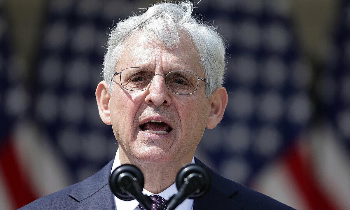 Bộ trưởng Tư pháp Mỹ Merrick Garland tại Nhà Trắng ngày 8/4. Ảnh: AFP.