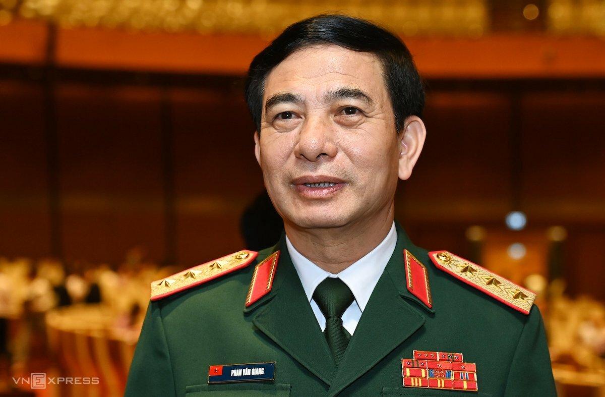 Bộ trưởng Quốc phòng Phan Văn Giang ứng cử Quốc hội khóa mới khối Chính phủ. Ảnh: Giang Huy