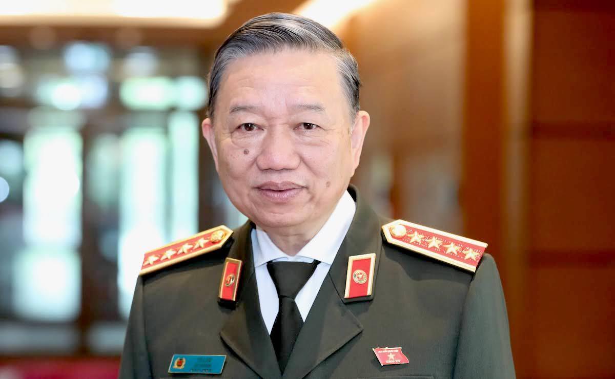 Bộ trưởng Công an Tô Lâm ứng cử Quốc hội khóa XV khối Chính phủ. Ảnh: Hoàng Phong