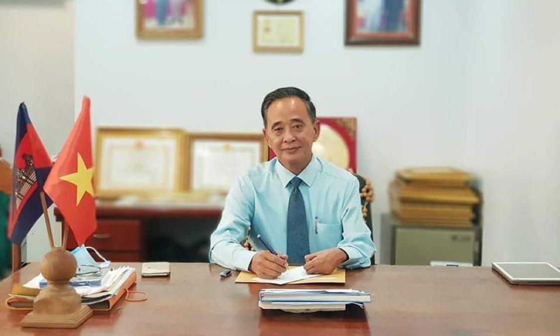 Ông Sim Chy, Chủ tịch Hội Khmer Việt Nam tại Campuchia. Ảnh nhân vật cung cấp.