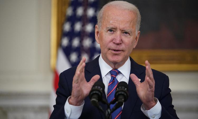 Tổng thống Mỹ Joe Biden phát biểu tại Nhà Trắng hôm 2/4. Ảnh: AFP.