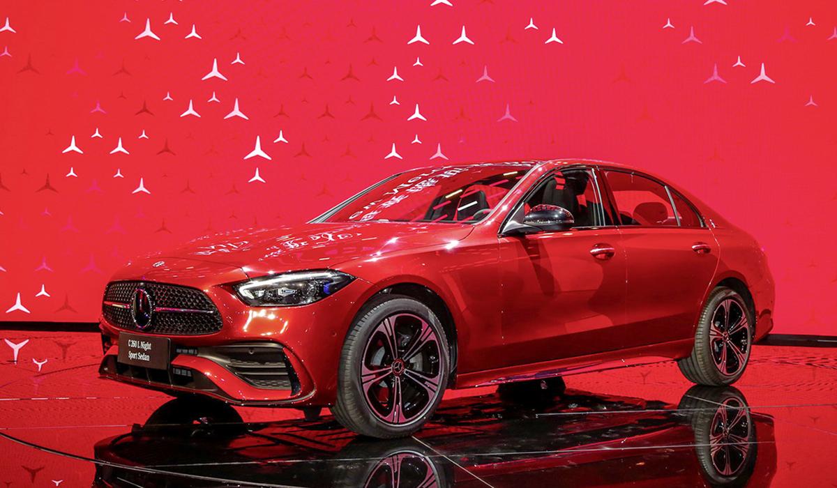 Mercedes C-class L phiên bản mới ra mắt tại triển lãm ôtô Thượng Hải. Ảnh: Autohome
