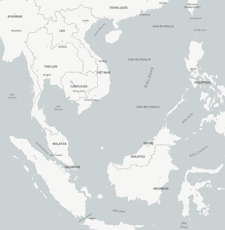 Biển Đông và một số khu vực lân cận. Đồ họa: CSIS.