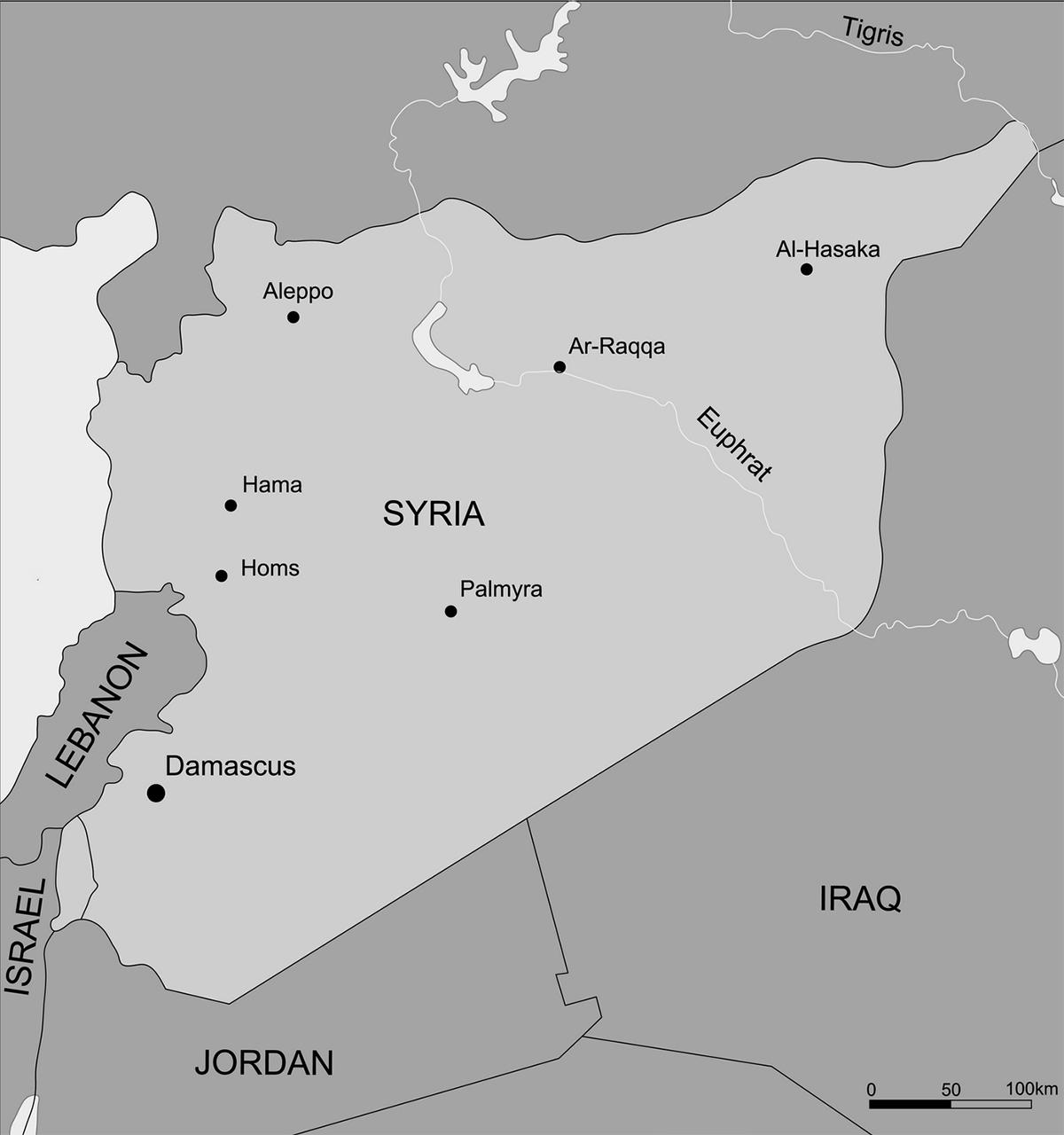 Bản đồ Syria. Nguồn: Archaeolog.