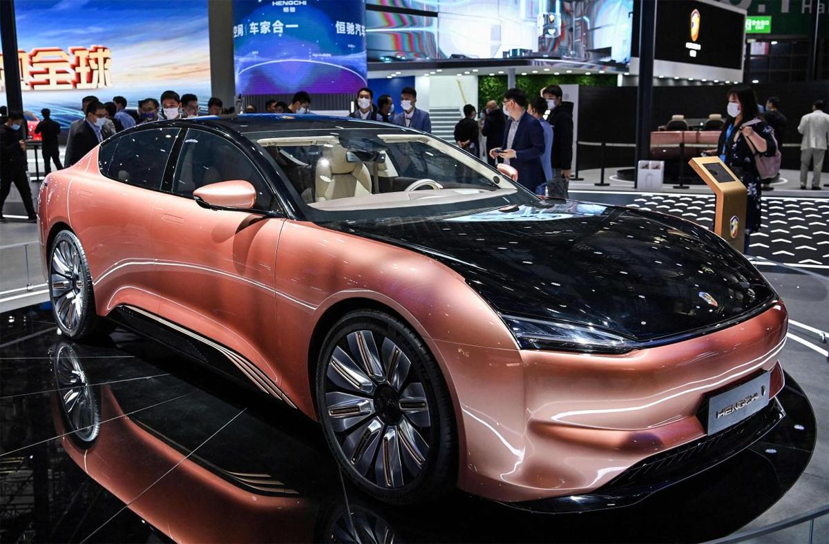 Hengchi 1 - sedan chạy điện. Ảnh: AFP