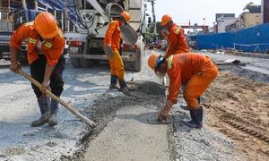 Công trường metro đường Lê Lợi sắp thông thoáng