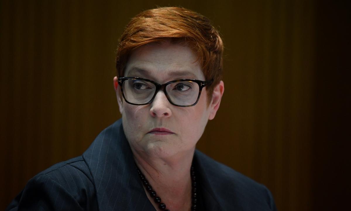 Ngoại trưởng Australia Marise Payne tại Canberra hôm 24/3. Ảnh: AFP.