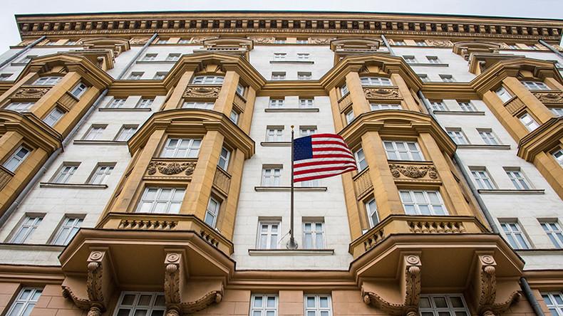 Đại sứ quán Mỹ tại Moskva. Ảnh: AFP.